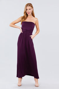 Tube Top Maxi Dress - Purple