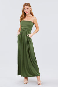 Tube Top Maxi Dress - Green