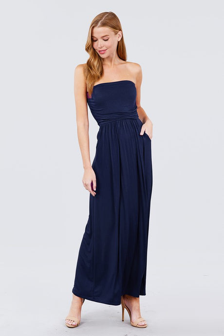 Tube Top Maxi Dress - Navy