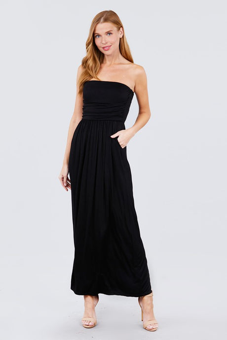 Tube Top Maxi Dress - Black