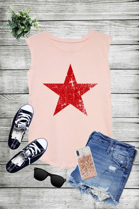 Distressed Star Tank