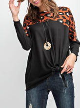 Animal Printed Round Neckline Knit Top