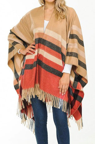 Fall Plaid Poncho