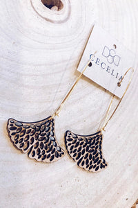 C16 - Seed Ginkgo Drop Wood Earrings