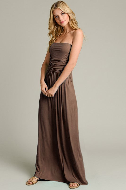 Tube Top Maxi Dress Mocha