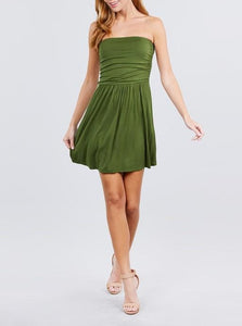Tube Top Mini Dress - Green