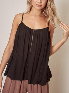 Lace Insert Flowy Top