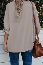 Mocha High Low Hem Oversized Blouse