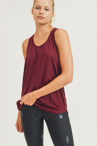 Open Overlay Back Tank Top
