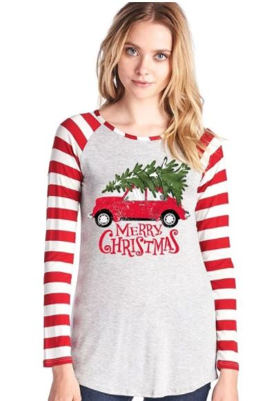 Merry Christmas Long Sleeve Shirt - Adult
