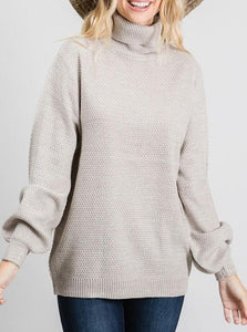Basic Turtleneck - Taupe