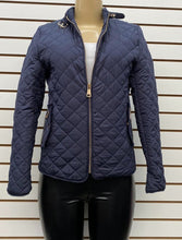 Navy Padded Jacket with Fur Lining