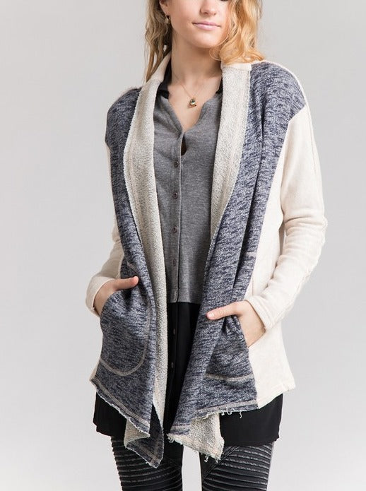 Blue & Ivory Casual Cardigan