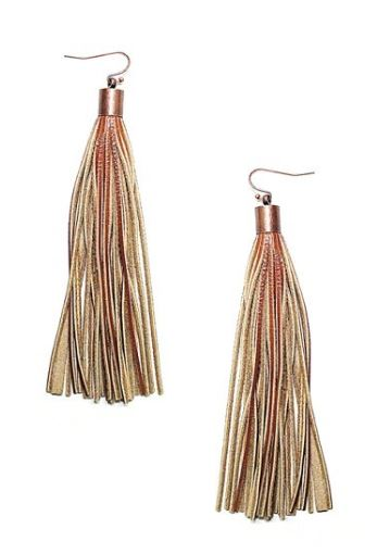 Leather Tassel Earrings - Multiple Colors Available