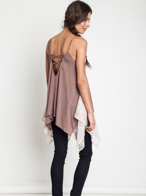 Asymmetrical Lace Tank