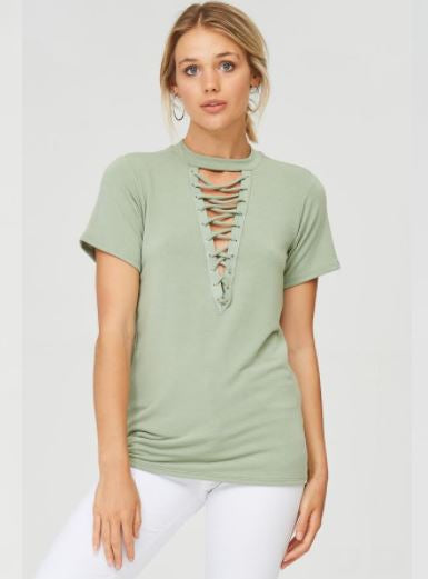 The Mercer Top in Light Mint Green