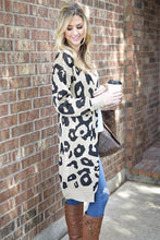 Leopard Print Sweater Cardigans