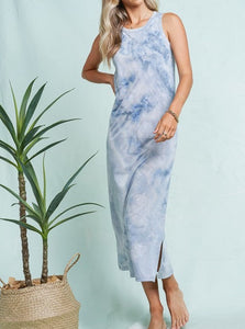 Cloudy Tie-Dye Dress