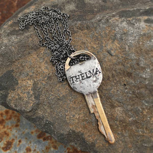 Solder Recycled Key Necklace - Thelma or Louise (Sold Seperate)