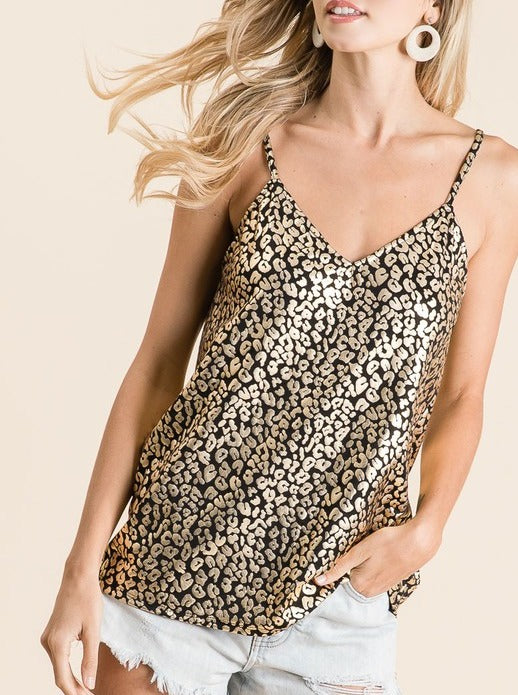Gold & Black Leopard Tank