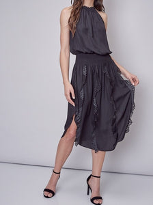 Sleeveless Laser Cut Dress