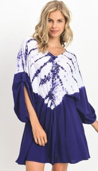 Royal Blye Tie-Dye Dress