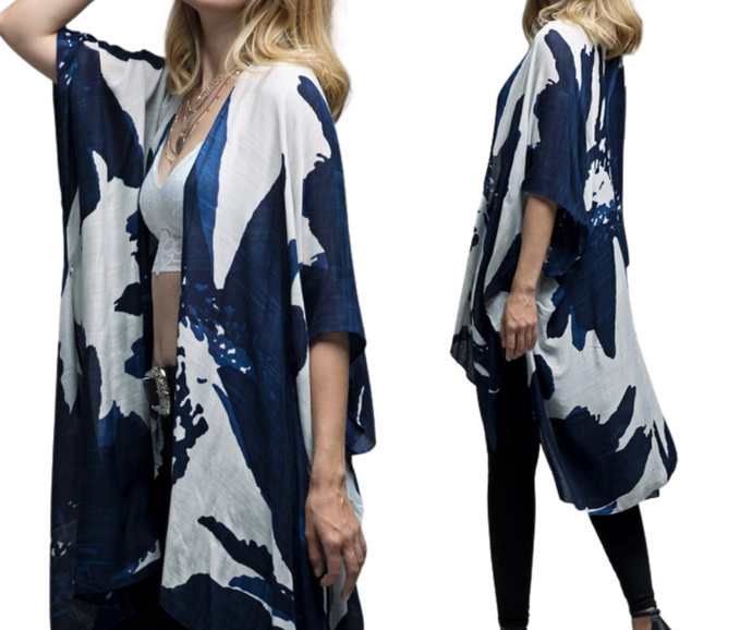 Sweeping Floral Kimono - One Size