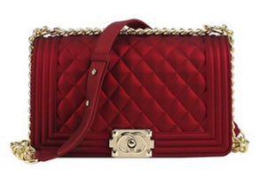 Chanel Inspired Classic Bag in Crimson Red