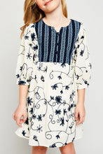 Floral Embroidered DressTunic Dress