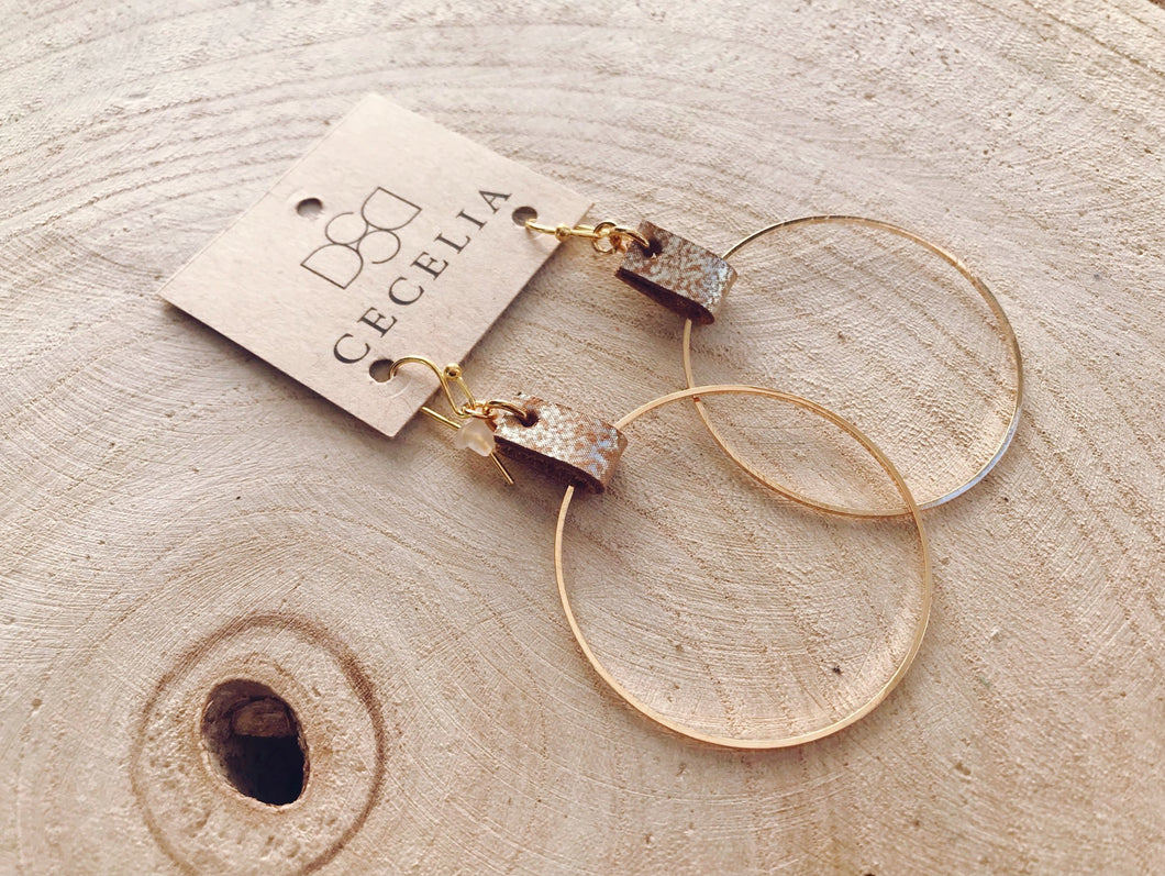 C02 - Rose Gold Hoops