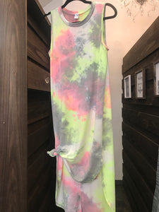 Tie-Dye High Low Dress