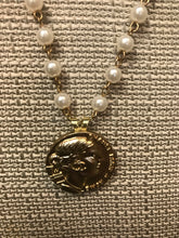 Chanel - Lady Coin Pendant with Pearl Necklace