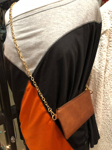 Brown Cross Body Bag or Clutch