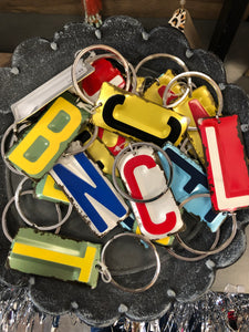 License Plate Key Chain - Large