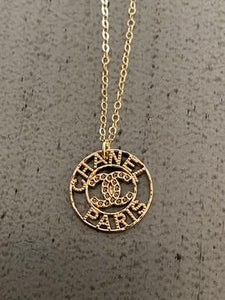 CHANEL - Button Pendant Necklace