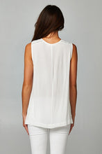 Embroidered Draped Hem Top