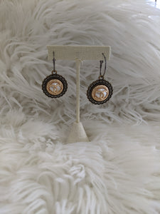 TS100 - Chanel Button Earrings