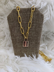 TS103 - LV Lock Necklace