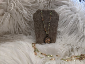 TS123 - Chanel Owl on Vintage Monet Beads