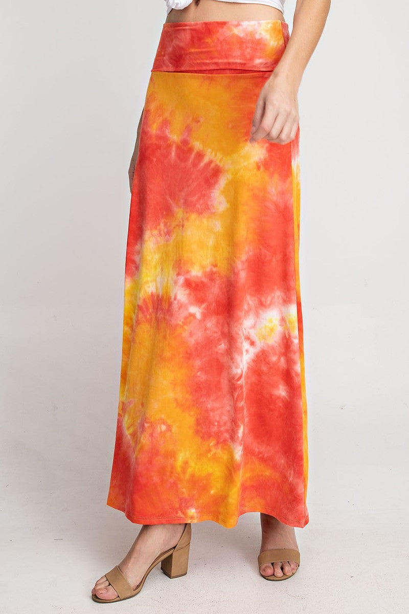 Orange & Yellow Tie Dye Skirt