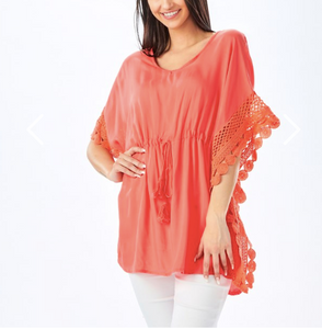 Swimsuit Cover Up - Coral