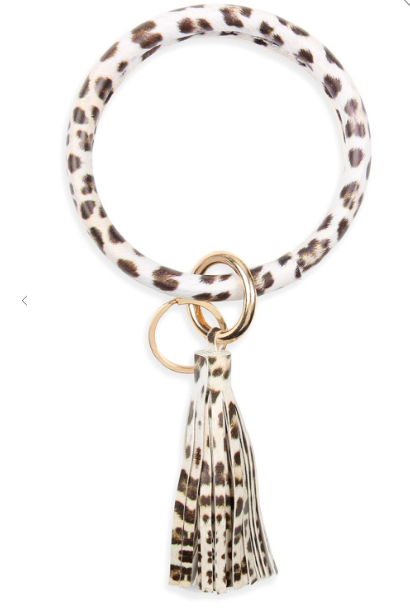 Leopard Tassel Key Ring