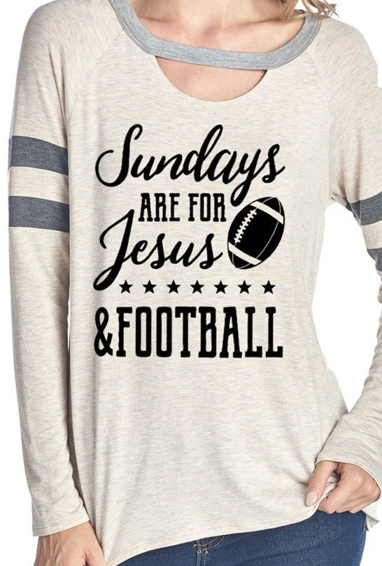 Sundays are for Jesus & Football - Oatmeal
