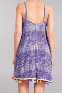Abstract Indigo Swing Dress