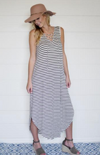 Summer Stripe with Tie Neck