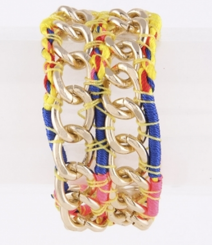 Gold & Yellow Multi Bracelet