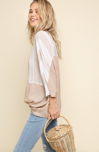 Jordyn Top in Taupe