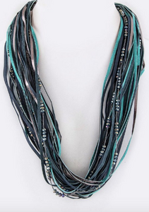 Boho Layered Necklace - Green