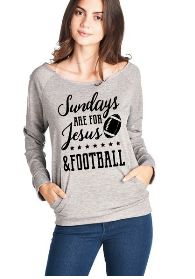 Sundays are for Jesus & Football - Grey