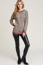 Leopard & Stripes Top